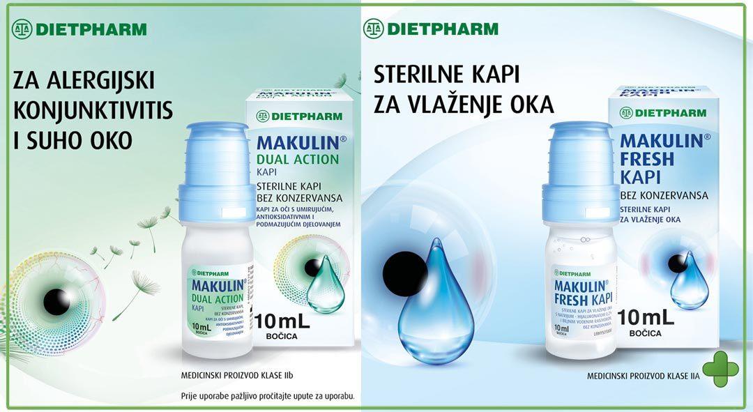 Upoznajte Makulin Fresh i Dual Action kapi iz Dietpharma!